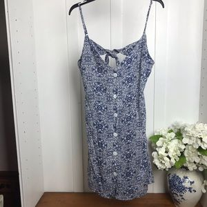 POOF New York floral dress lined- back tie/bow